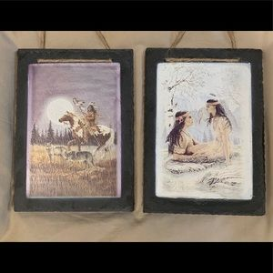 2 Vintage One Of A Kind Native American Art